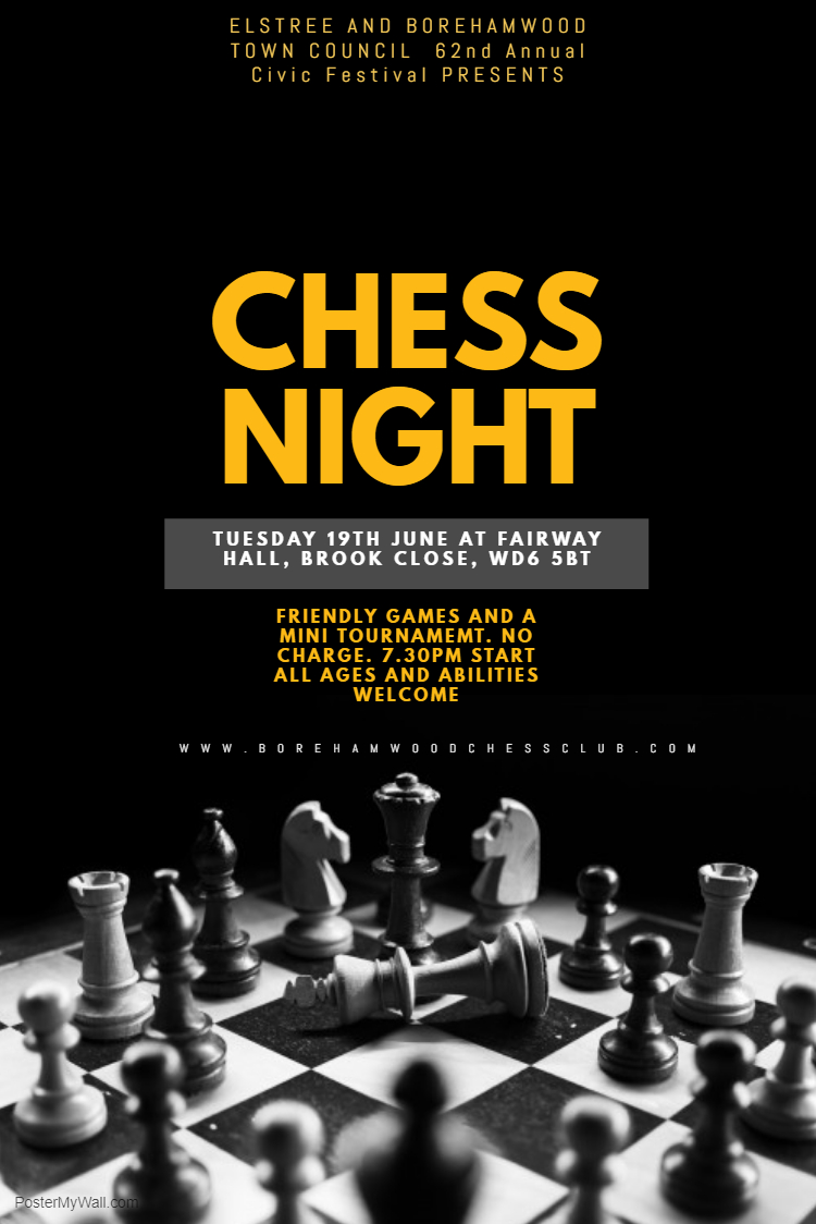 Chess Night Flyer Template - Made with PosterMyWall